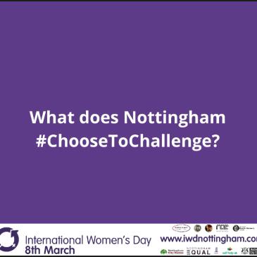What does Nottingham #ChoosetoChallenge?